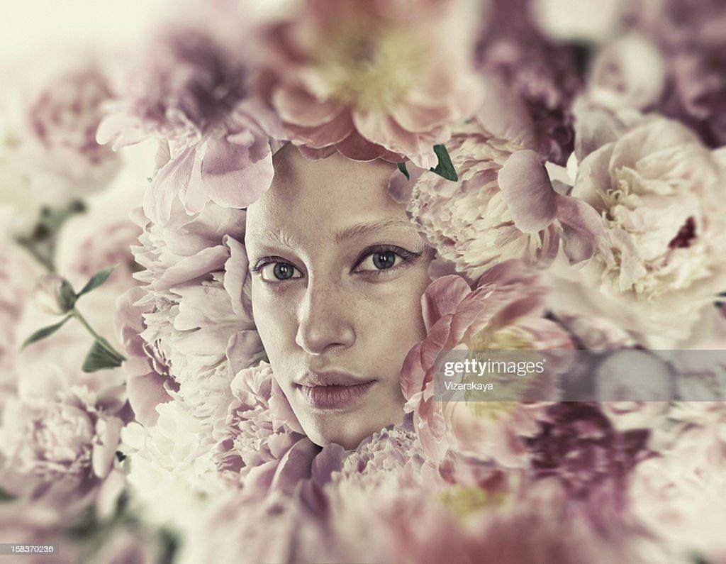 Sensual Retrato de flores : Foto de stock