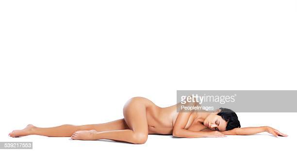 sensual slumber - beautiful bare women stock photos and pictures