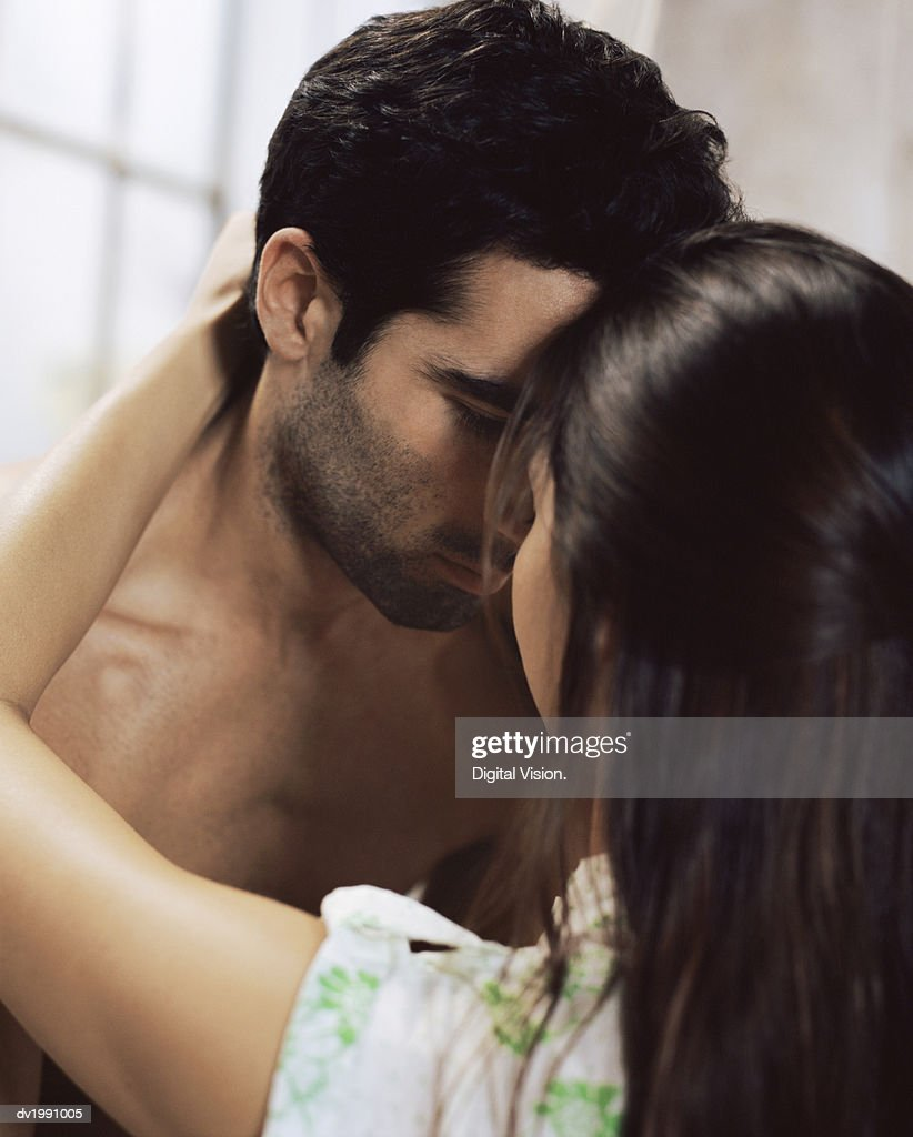 Sensual Twentysomething Couple Face to Face : Stock Photo