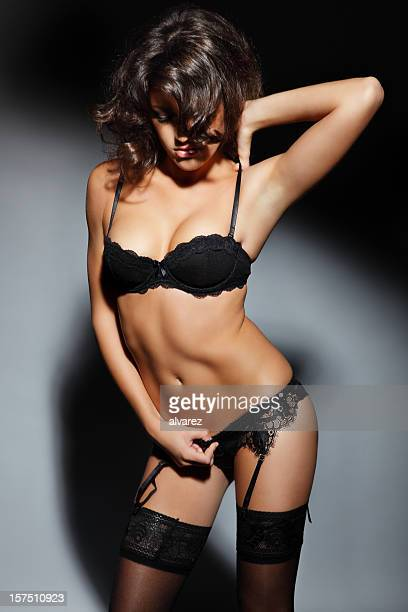 sensual woman in lingerie - lingerie stock photos and pictures
