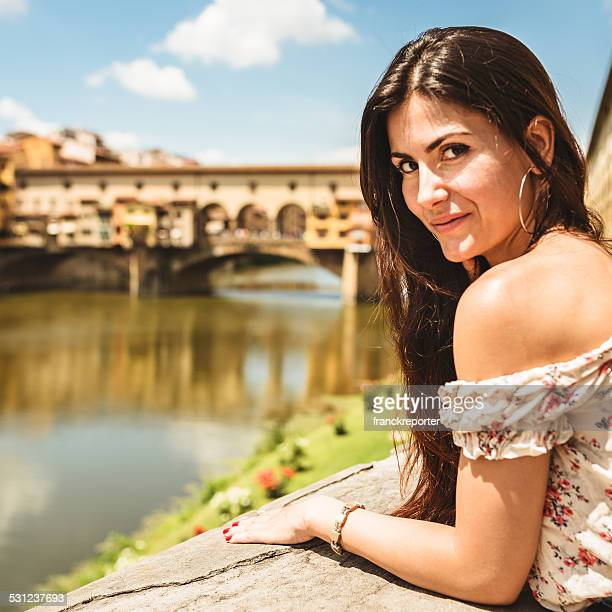 sensual woman standing in Florence