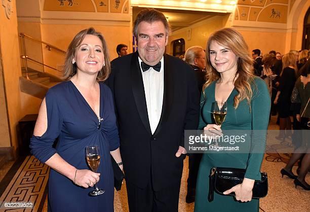 Senta Auth Peter Rappenglueck and Silke Popp attend the Bayerischer Filmpreis 2017 at Prinzregententheater on January 20 2017 in Munich Germany