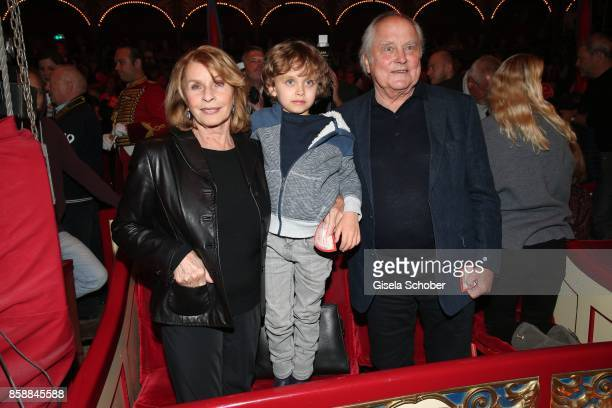 Senta Berger and her grandson David Verhoeven and husband Michael Verhoeven during the premiere of the Circus Roncalli '40 Jahre Reise zum...