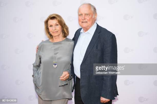 Senta Berger and her husband Michael Verhoeven arrive at the ZDF reception during the Munich Film Festival at Hugo's on June 27 2017 in Munich Germany
