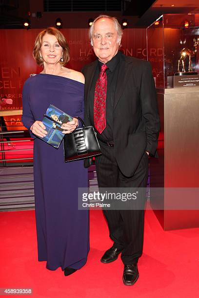 Senta Berger and her husband Michael Verhoeven attend AIGNER at the Bambi Awards 2014 on November 13 2014 in Berlin Germany