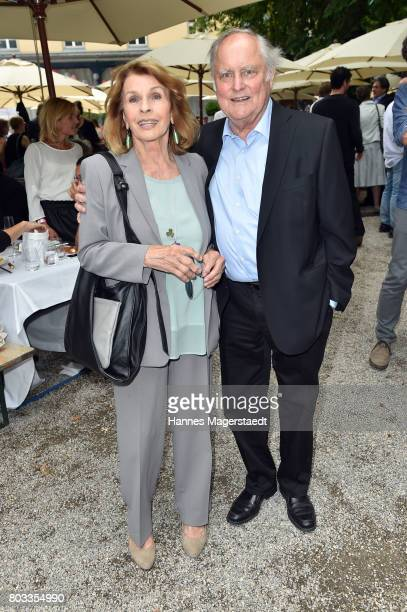 Senta Berger and her husband Michael Verhoeven attend the FFF reception during the Munich Film Festival 2017 at Praterinsel on June 29 2017 in Munich...