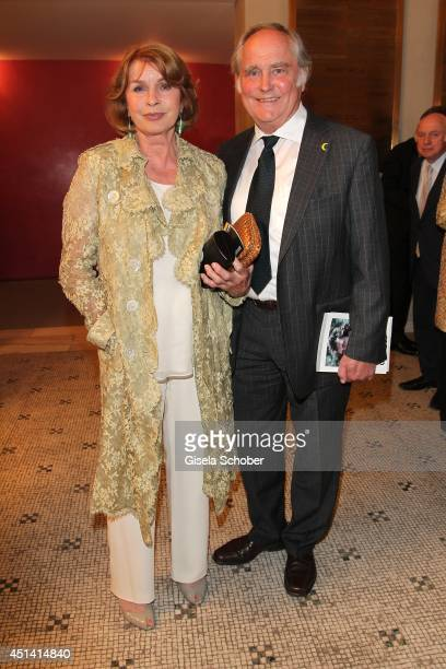 Senta Berger and her husband Michael Verhoeven attend the 'Guillaume Tell' Opera Premiere at the Opera Festival Opening In Munich on June 28 2014 in...