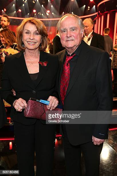 Senta Berger and her husband Michael Verhoeven during the Bavarian Film Award 2016 at Prinzregententheater on January 15 2016 in Munich Germany