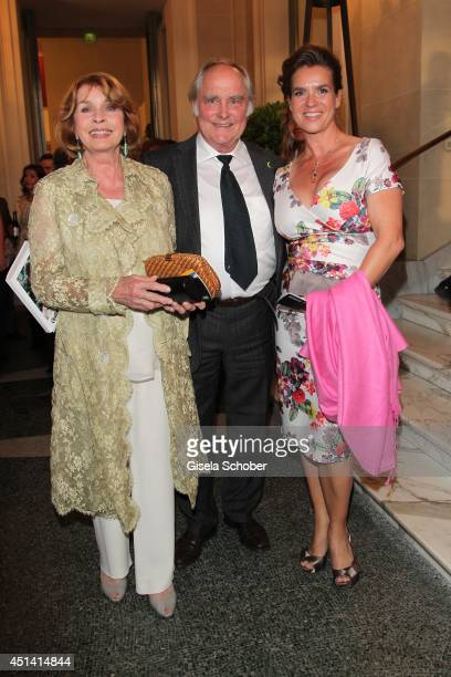 Senta Berger and her husband Michael Verhoeven Katarina Witt attend the 'Guillaume Tell' Opera Premiere at the Opera Festival Opening In Munich on...