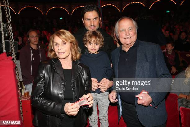 Senta Berger and her son Simon Verhoeven grandson David Verhoeven and husband Michael Verhoeven during the premiere of the Circus Roncalli '40 Jahre...