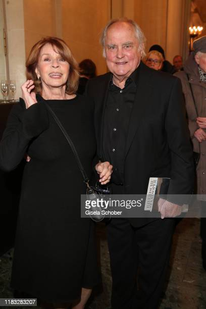 Senta Berger and Michael Verhoeven at the opera premiere of Die tote Stadt by Erich Wolfgang Korngold at Bayerische Staatsoper on November 18 2019 in...