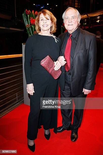 Senta Berger and Michael Verhoeven attend the opening party of the 66th Berlinale International Film Festival Berlin at Berlinale Palace on February...