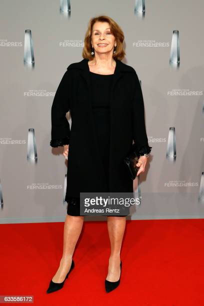 Senta Berger attends the German Television Award at Rheinterrasse on February 2 2017 in Duesseldorf Germany