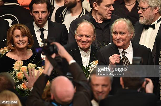 Senta Berger Bruno Ganz and Michael Verhoeven attend the Bayerischer Filmpreis 2017 at Prinzregententheater on January 20 2017 in Munich Germany