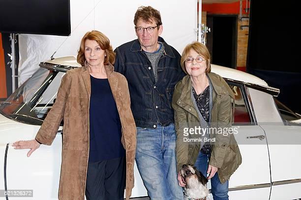 Senta Berger Nikolai Muellerschoen and Cornelia Froboess during the on set photo call for the film 'Almuth und Rita raeumen auf' at Arri Kino on...