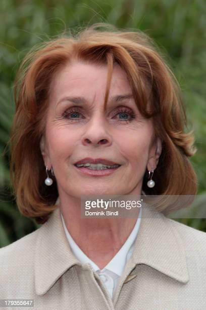 Senta Berger poses during the TV production of 'Freundinnen' on September 2 2013 in Munich Germany