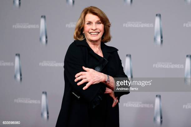 Senta Berger poses with her award at the German Television Award at Rheinterrasse on February 2 2017 in Duesseldorf Germany