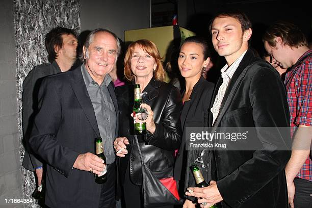 Senta Berger with husband Michael Verhoeven son Luca Verhoeven and accompaniment at the premiere party of Männerherzen In Dice Club in Berlin