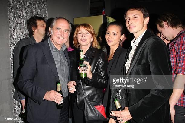 Senta Berger with husband Michael Verhoeven son Luca Verhoeven and accompaniment at the premiere party of Männerherzen In Dice Club in Berlin