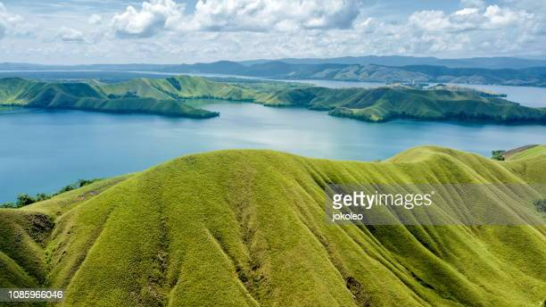 sentani lake - papua province indonesia stock pictures, royalty-free photos & images