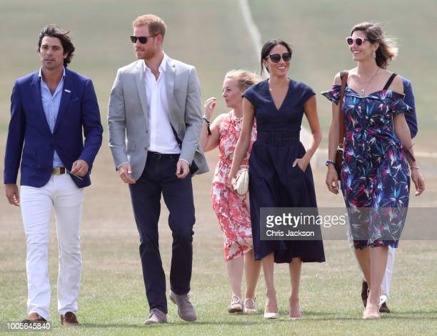 Sentebale Ambassador Nacho Figuares Prince Harry Duke of Sussex Sentebale CEO Cathy Ferrier Meghan Duchess of Sussex and Delfina Figueras arrive for...