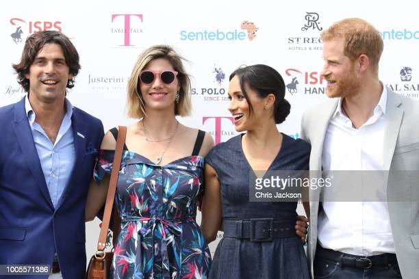 Sentebale Ambassador Nacho Figuares wife Delfina Figueras Meghan Duchess of Sussex and Prince Harry Duke of Sussex arrive for the Sentebale Polo 2018...