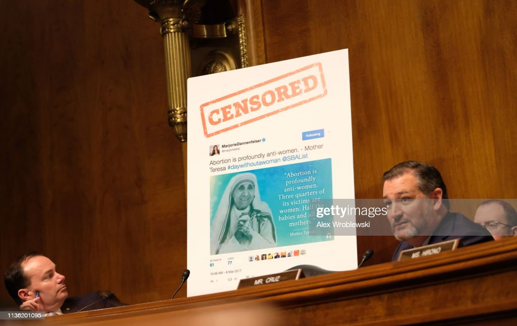 Senate Judiciary Committee Questions Twitter And Facebook On Technological Censorship : News Photo
