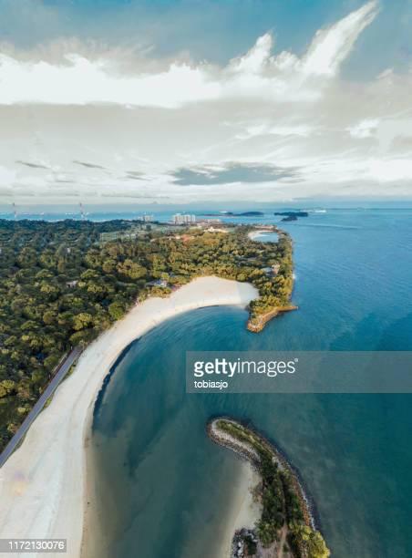 sentosa island singapore - lagoon stock pictures, royalty-free photos & images