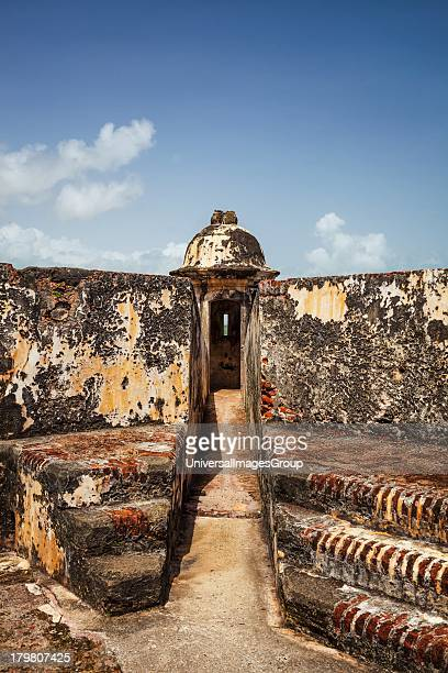 A sentry box Castillo San Felipe del Morro San Juan National Historic Site a national park in Old San Juan Puerto Rico