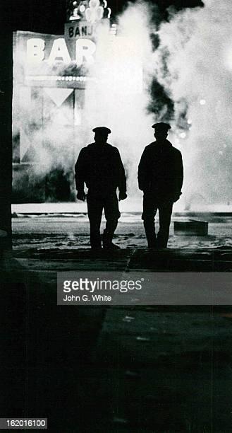 MAR 18 1970 MAR 19 1970 Sentry Dufyé¦s Pretty Cold at times A pair of Denver policemen Dan Morahan and partner Ralph Callahan walk along deserted...