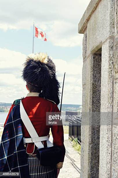 sentry guard - flag of nova scotia stock pictures, royalty-free photos & images