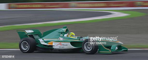 Irish A1 driver Ralph Firman powers his car along the track during the qualifying session of the A1 Grand Prix Championship at the Sentul circuit in...