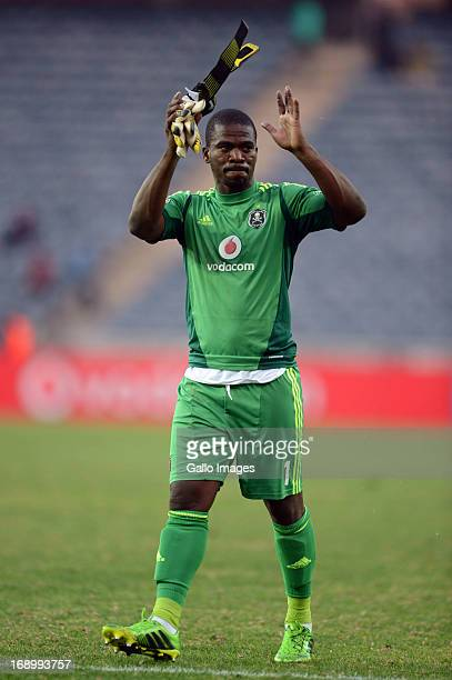 Senzo Meyiwa after the match during the Absa Premiership match between Orlando Pirates and Maritzburg United at Orlando Stadium on May 18 2013 in...
