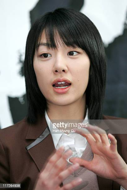 Seo Ji-Hae during Whispers Paju City Press Conference at Art Service A Studio In Paju in Paju City, Gyeonggi Province.