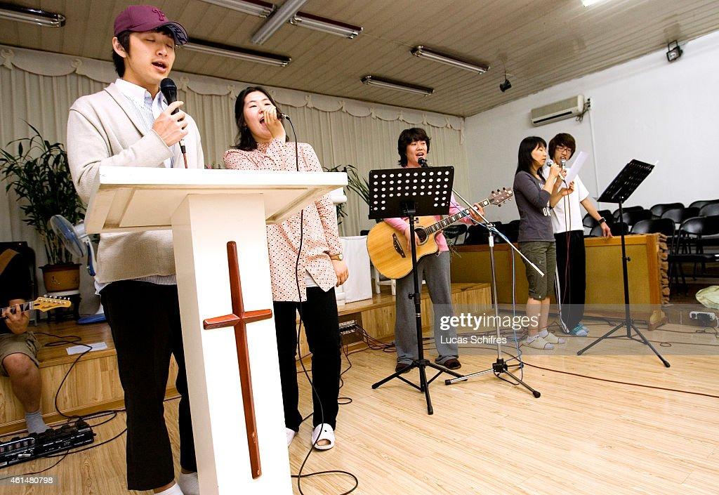 Korean Christians in China : News Photo