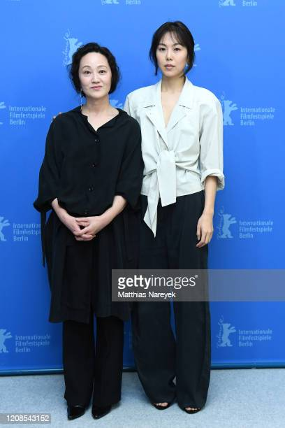 Seo Younghwa and Kim Minhee attend the The Woman Who Ran photocall during the 70th Berlinale International Film Festival Berlin at Grand Hyatt Hotel...