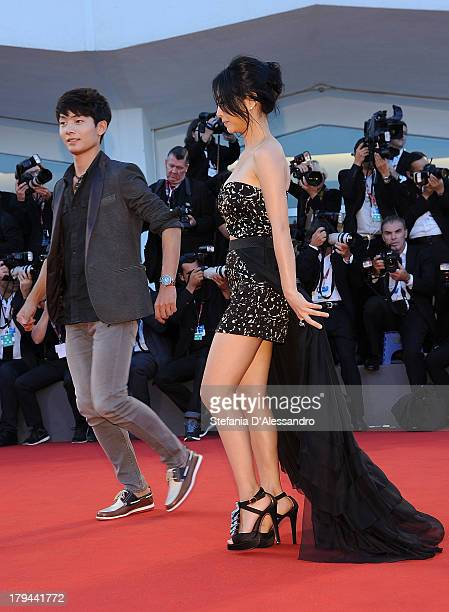 Seo Youngju and Lee Eunwoo attend 'Moebius' Premiere during the 70th Venice International Film Festival at Palazzo del Casino on September 3 2013 in...