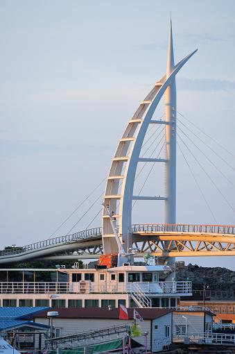 Seogwipo Saeyeon Bridge in Beautiful Morning - gettyimageskorea