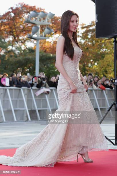 Seohyun of South Korean girl group Girls' Generation attends during 2018 The Seoul Awards at Kyunghee University on October 27, 2018 in Seoul, South...
