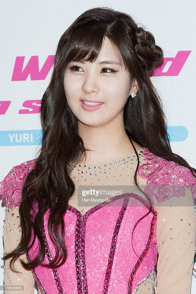 Seohyun of South Korean girl group Girls' Generation attends during the Girls' Generation World Tour 'Girls & Peace' press conference at Olympic Gymnasium on June 9, 2013 in Seoul, South Korea.