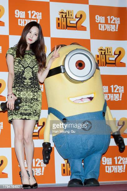 Seohyun of South Korean girl group Girls' Generation attends the 'Despicable Me 2' press conference at the CGV on September 4 2013 in Seoul South...