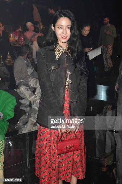 Seol Hyun attends the Gucci show during Milan Fashion Week Autumn/Winter 2019/20 on February 20, 2019 in Milan, Italy.