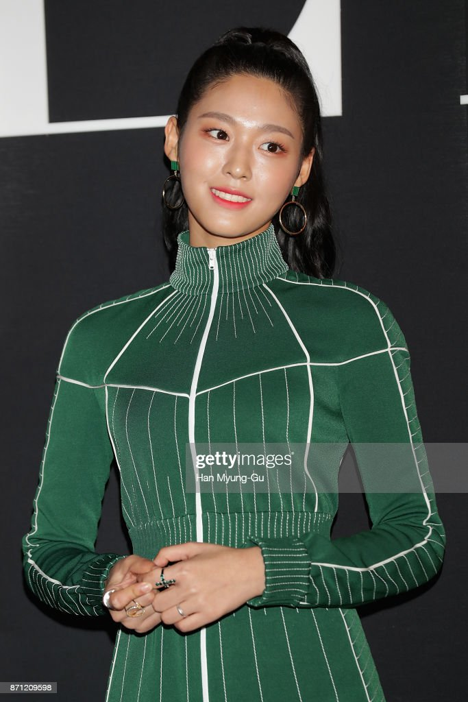 Seolhyun, a member of the South Korean girl group AOA, attends the 'VALENTINO' The VLTN Pop-Up Store Opening on November 7, 2017 in Seoul, South Korea.