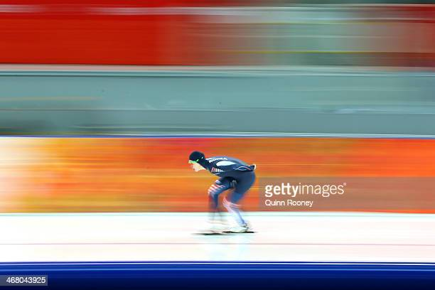 Seon Yeong Noh of South Korea competes during the Women's 3000m Speed Skating event during day 2 of the Sochi 2014 Winter Olympics at Adler Arena...