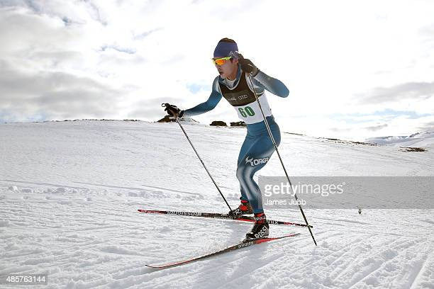 SeongBeom Park and race winner of Korea competes in the Freestyle Individual Mens 10km FIS CrossCountry Skiing ANC Individual Start Freestyle during...