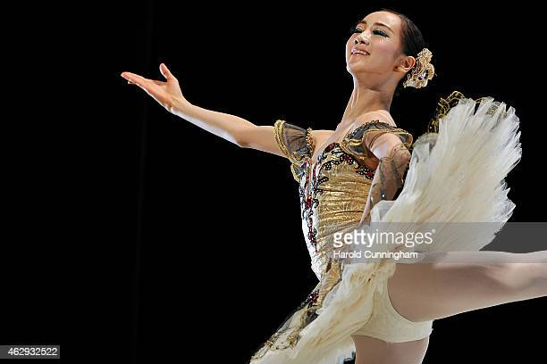 SeonMee Park of South Korea from Sunhwa Arts High School, Seoul, South Korea performs during classical selections of the 43rd International Ballet...
