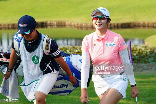Seonwoo Bae of South Korea walks to the 18th hole during the third round of the World Ladies Championship Salonpas Cup at Ibaraki Golf Club Higashi...