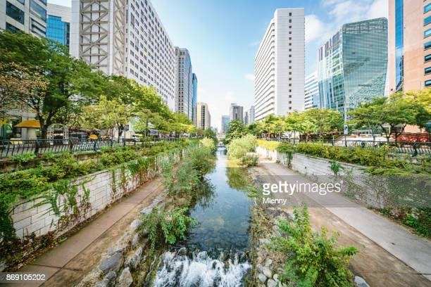 Seoul Cheonggyecheon Stream South Korea