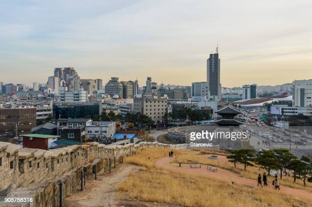 Seoul city skyline from Naksan Park