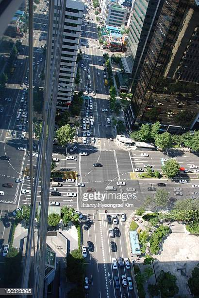 seoul city street - henry street stock pictures, royalty-free photos & images